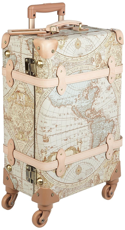 [ワールドトランク] world trunk(ワールドトランク) (WORID) 7016-47 Renaissance ABS芯材四輪キャスター使用 地図柄トランクケース B00UWMIU4E地図柄ヌメ