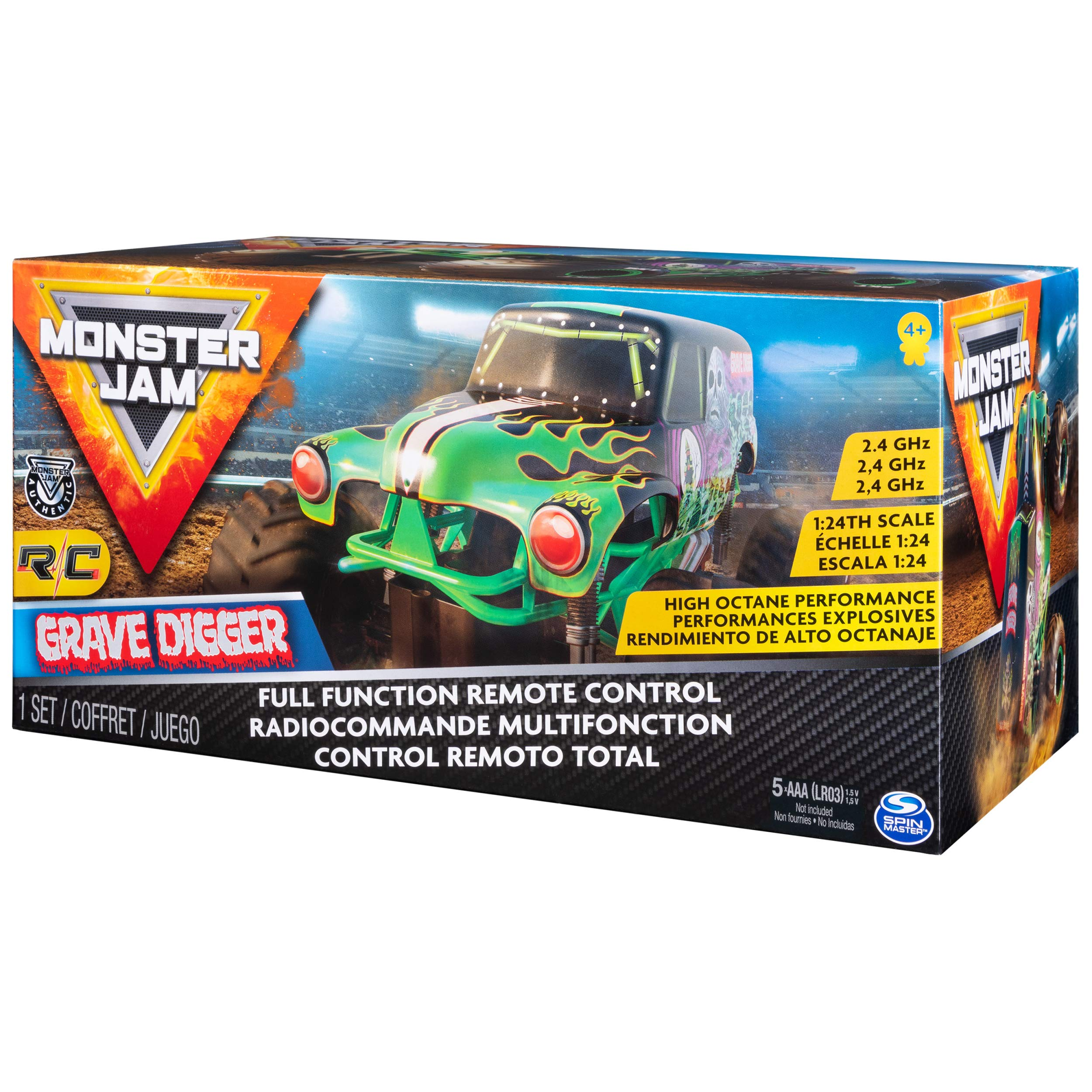 Monster Jam Official Grave Digger Remote Control Monster Truck, 1:24 Scale, 2.4 GHz, for Ages 4 and Up by Monster Jam (Image #6)