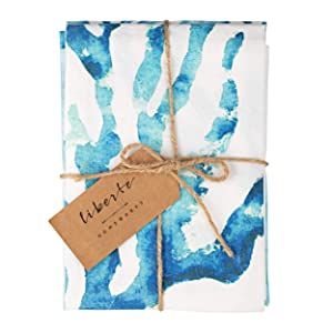 Ocean & Beach Kitchen Towels Cotton. Dish Towels Blue & White Set of 3. Decorative Luxury Decor Dish Cloths/Tea Towels. Absorbent & Quick Drying. Perfect for Entertaining, Cooking and Baking!