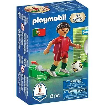 Playmobil Joueur de Foot Portugais, 9516, Multicolore