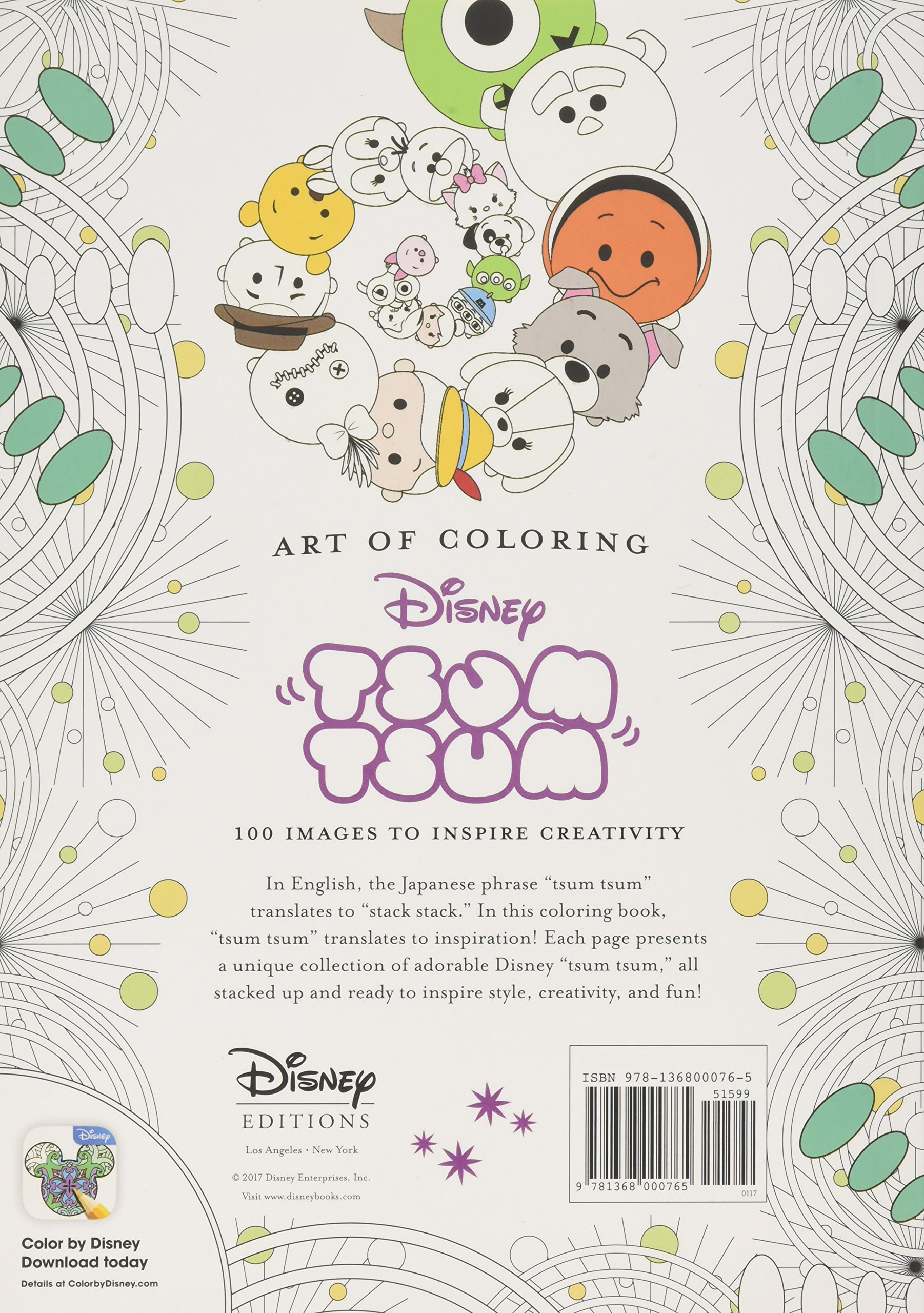 Art Of Coloring Tsum 100 Images To Inspire Creativity Disney Book Group 9781368000765 Amazon Books