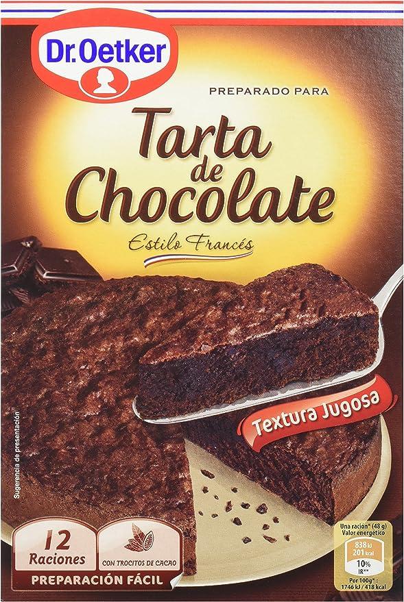 Dr. Oetker - Preparado para Tarta de Chocolate - Estilo Francés - 355 g - 12 raciones - [Pack de 4]: Amazon.es: Alimentación y bebidas
