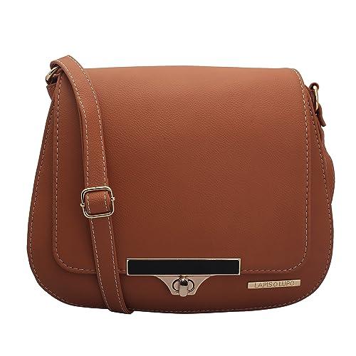 Lapis O Lupo Bronze Women Sling Bag (Tan)  Amazon.in  Shoes   Handbags 8344532eaedcb