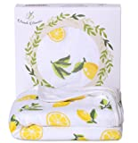 Amazon Price History for:Organic Bamboo Hooded Baby Bath Towel - Luxury Spa Super Soft for Sensitive Skin - Lemon, 2 Layers, Reversible - Absorbent, Keep Dry&Warm-Antibacterial,Hypoallergenic-Perfect Shower Registry Gift