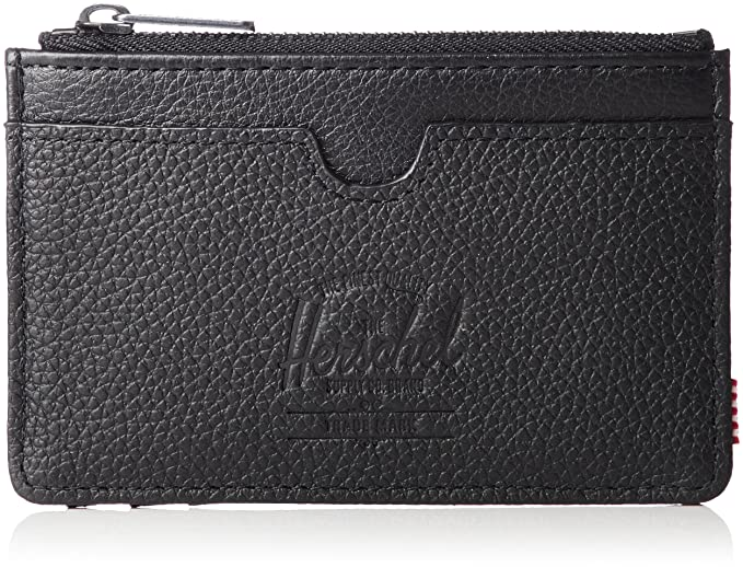10e81b724f1 Herschel Porte monnaie Oscar Black Pebbled Leather Rfid  Amazon.fr ...