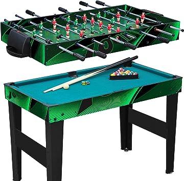 Parte etisch 10 en 1 multifunción/Multi Game mesa/mesa de juegos/multifunción/mesa futbolín/mesa de futbolín/billar/Tenis de Mesa/Hockey: Anaterra: Amazon.es: Deportes y aire libre