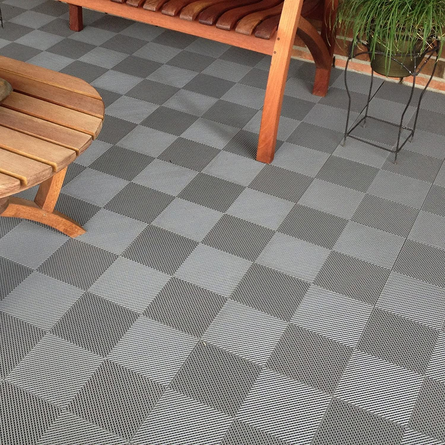 Amazon BlockTile B2US4630 Deck And Patio Flooring Interlocking Tiles Perforated Pack Gray 30 Home Improvement
