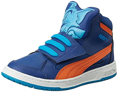 b3fd9751eec Puma Boy's Rebound Tom &Jerry Kids Sodalite Blue, Cloisonné and Orange  Sneakers ...