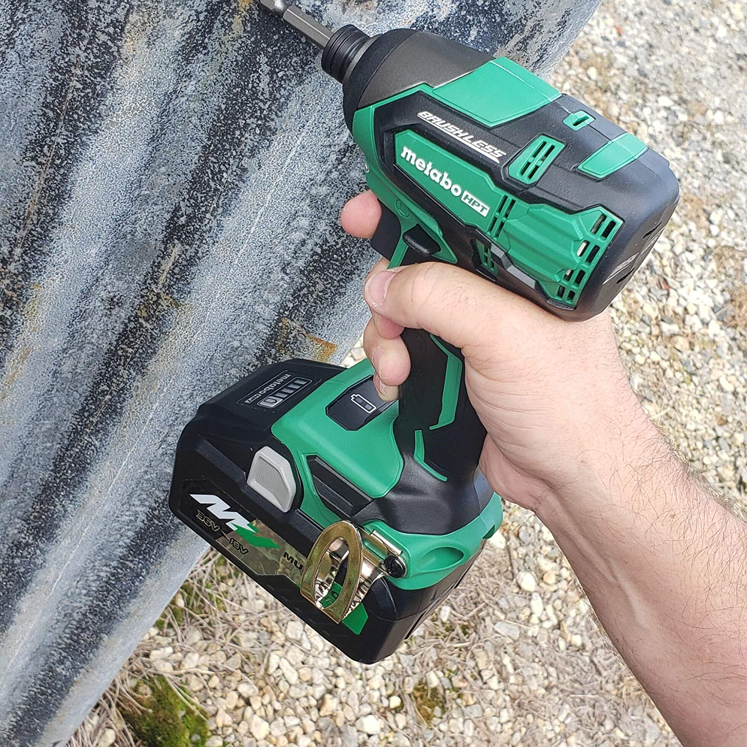 Metabo HPT 18V Cordless Impact Driver 18V Compact 3.0Ah Battery 1 Brushless 36V//18V Multivolt 5.0Ah /& Up to 3,100 Rpm 3,400 BPM 1 Includes 2 Batteries 1,522 in-lbs of Torque WH18DBFL2T