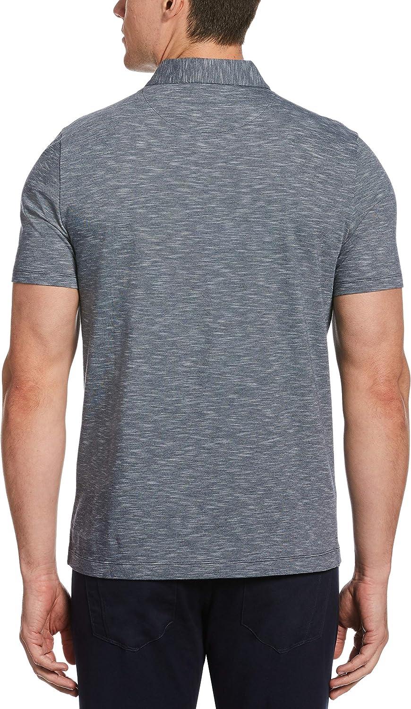 Perry Ellis Mens Textured Short Sleeve Polo Shirt Polo Shirt