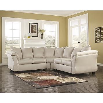 Amazon.com: flash furniture Darcy sofá seccional, Tela ...