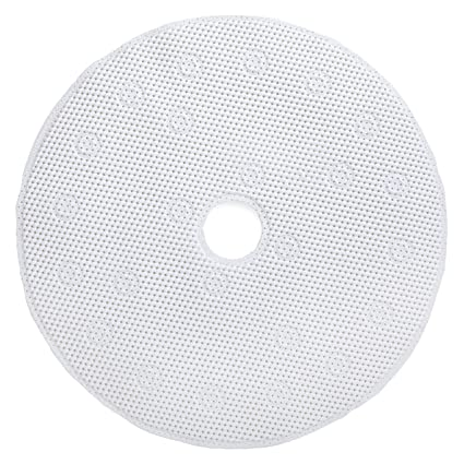 """Round Shower Mat with Suction Cups White Mat by SlipX Solutions 23/"""" Diameter"""