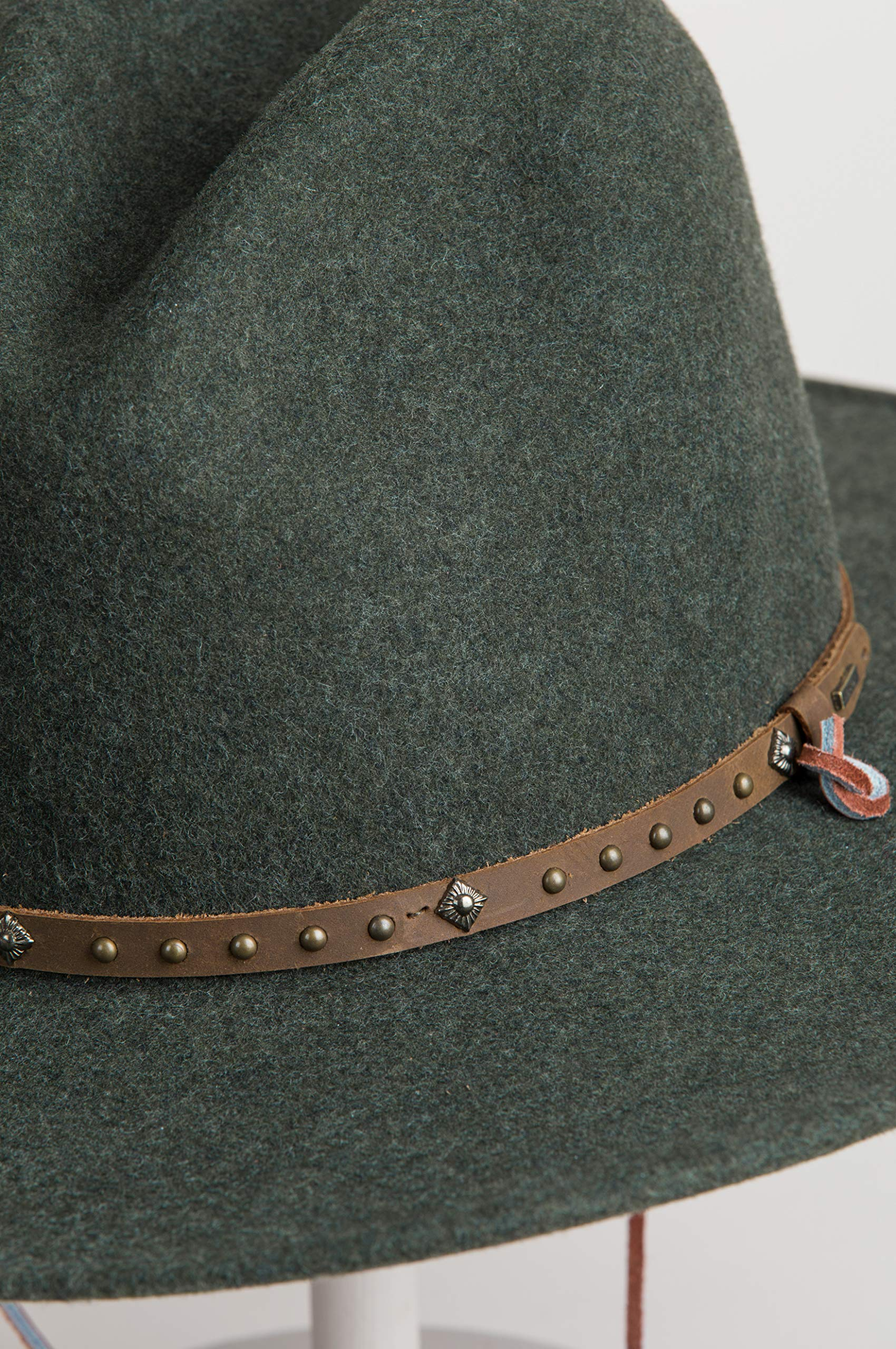 Men's Lonesome Trail Crushable Wool Stetson Hat, OLIVE MIX, Size SMALL by Stetson (Image #5)