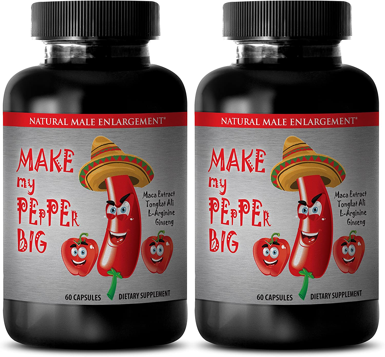 MAKE MY PEPPER BIGGER PILLS - Natural testosterone booster for men - Tribulus with arginine - 2 Bottles 120 capsules  - 91zit 2BXvQUL - MAKE MY PEPPER BIGGER PILLS – Natural testosterone booster for men – Tribulus with arginine – 2 Bottles 120 capsules