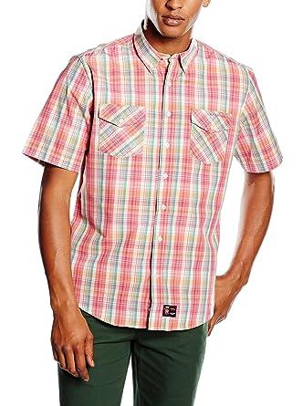 Spagnolo Camisa Hombre Rosa M (03): Amazon.es: Ropa y accesorios