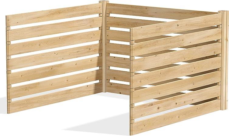 Amazon.com: Greenes Fence Cedar - Kit de composter de madera ...