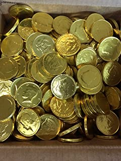 Solid Milk Chocolate Large Kennedy Gold Foil Coins - 10 Pound Box - Wholesale Bulk & Amazon.com : Chocolate Large Gold Coins 5lb : Candy : Grocery ... Aboutintivar.Com