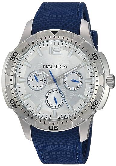 Nautica Reloj Analogico para Hombre de Cuarzo con Correa en Silicona NAPSDG002