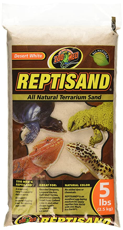 Amazon Com Zoo Med Reptisand 5 Pounds Desert White Sand Toys