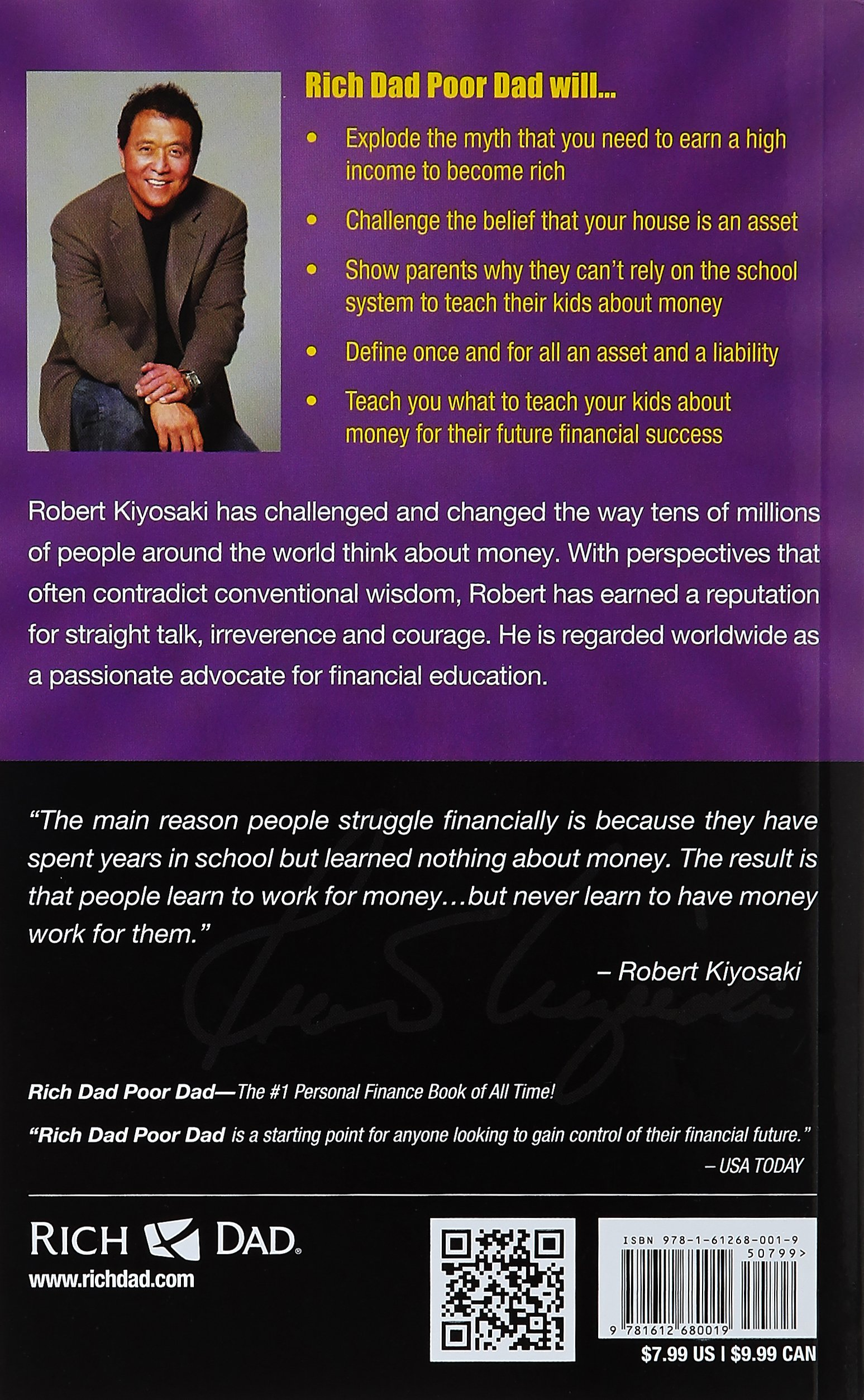 rich dad poor dad what the rich teach their kids about money rich dad poor dad what the rich teach their kids about money that the poor and middle class do not es robert t kiyosaki libros en idiomas