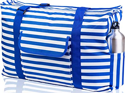 Oversized Carry Tote Bag For Towels Lightweight Foldable Perfect To Carry All Items For Your Family Heavy Duty Extra Large Beach Bags And Totes 30 Xxl Mesh Tote Bag With