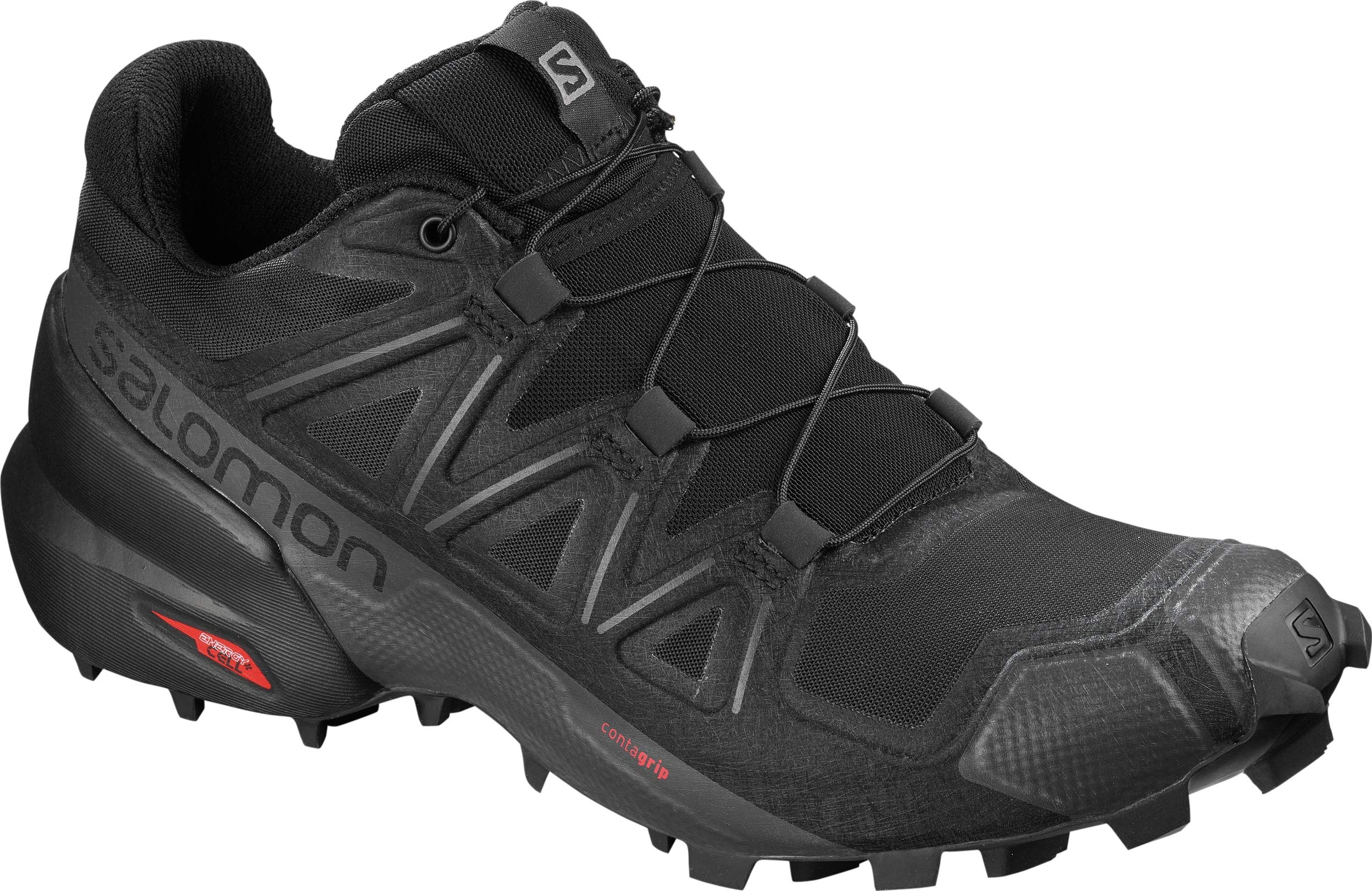 Salomon Women's Speedcross 5 Trail Running Shoes, Black/Black/PHANTOM, 10 by SALOMON