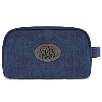 Custom Toiletry Bag for Women Leather Dopp Kit Personalized Leather Makeup Bag for Women Travel Bag Monogrammed Large Makeup Organizer