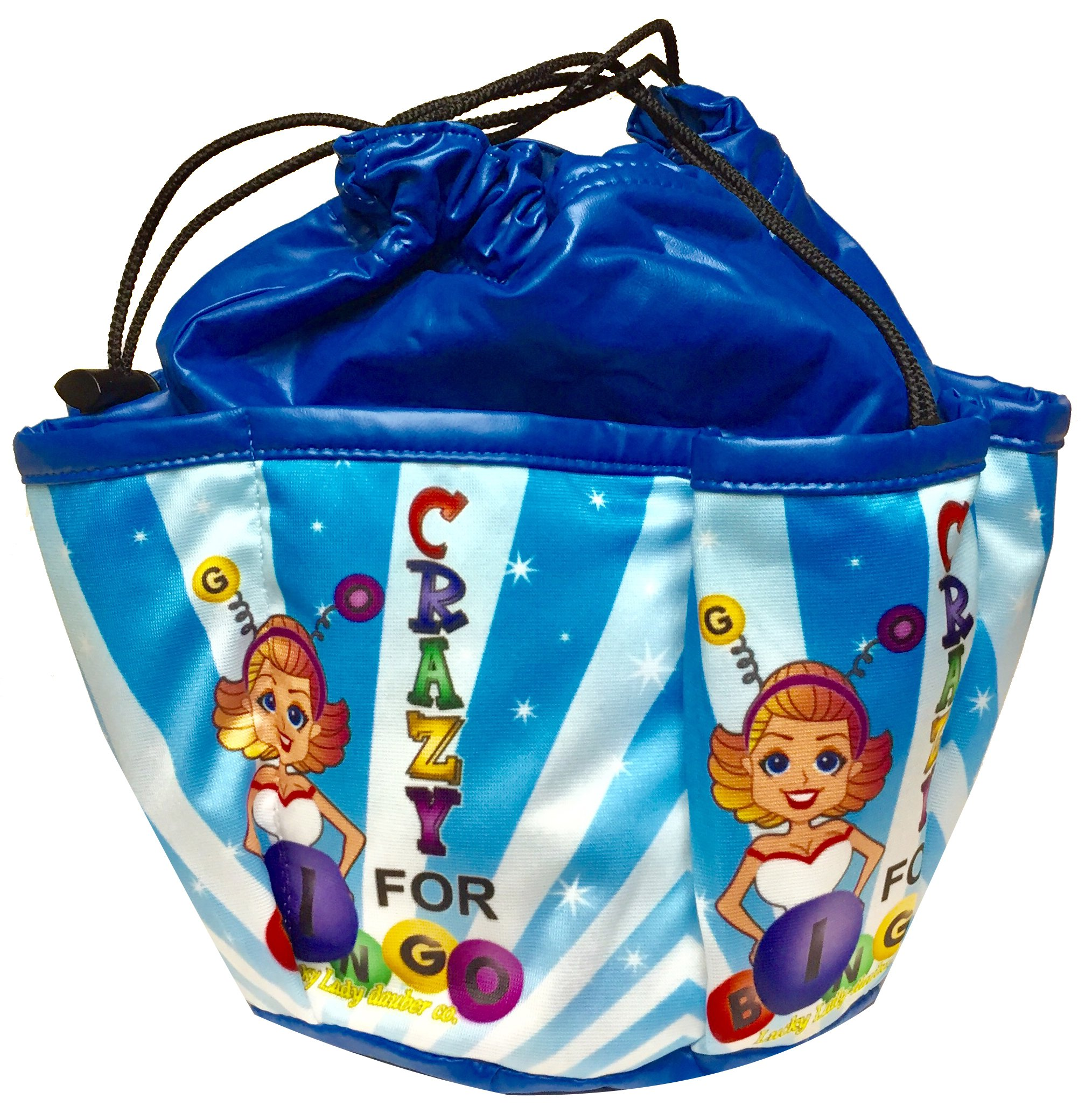 Lucky Lady Blue Bingo Bag''Go Crazy For Bingo''