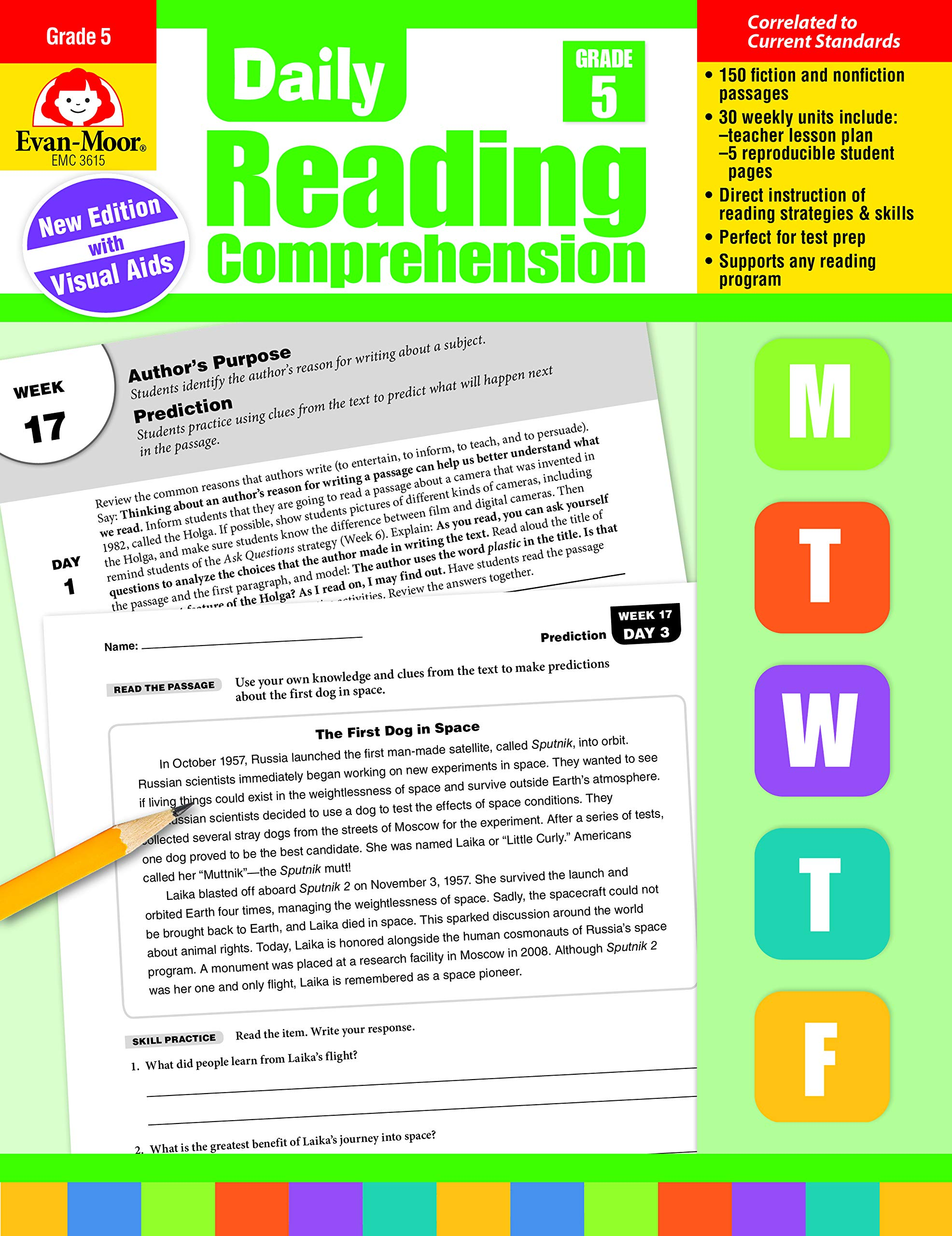 Amazon com: Evan-Moor Daily Reading Comprehension, Grade 5