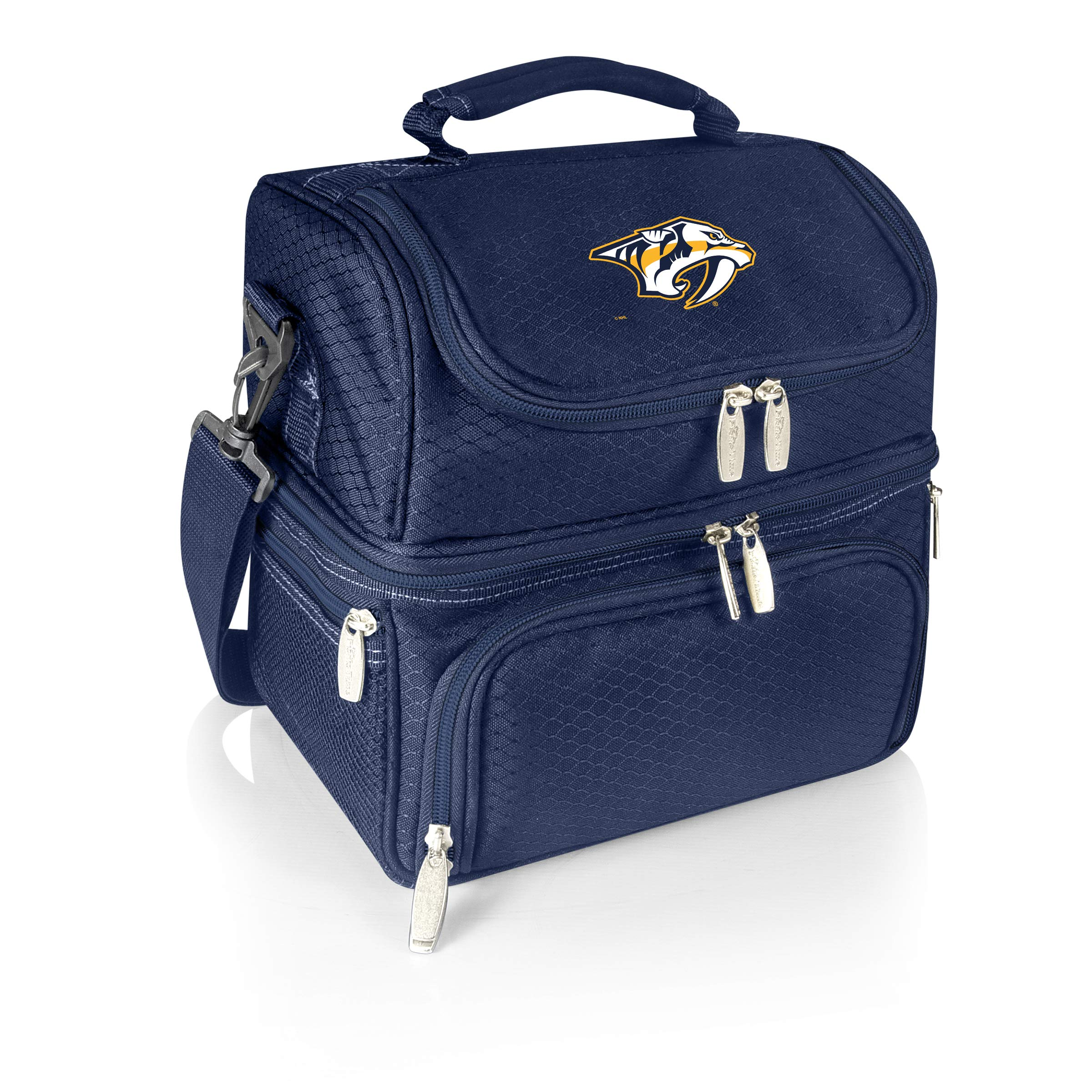 PICNIC TIME NHL Nashville Predators Pranzo Insulated Lunch Tote with Service for One, Navy