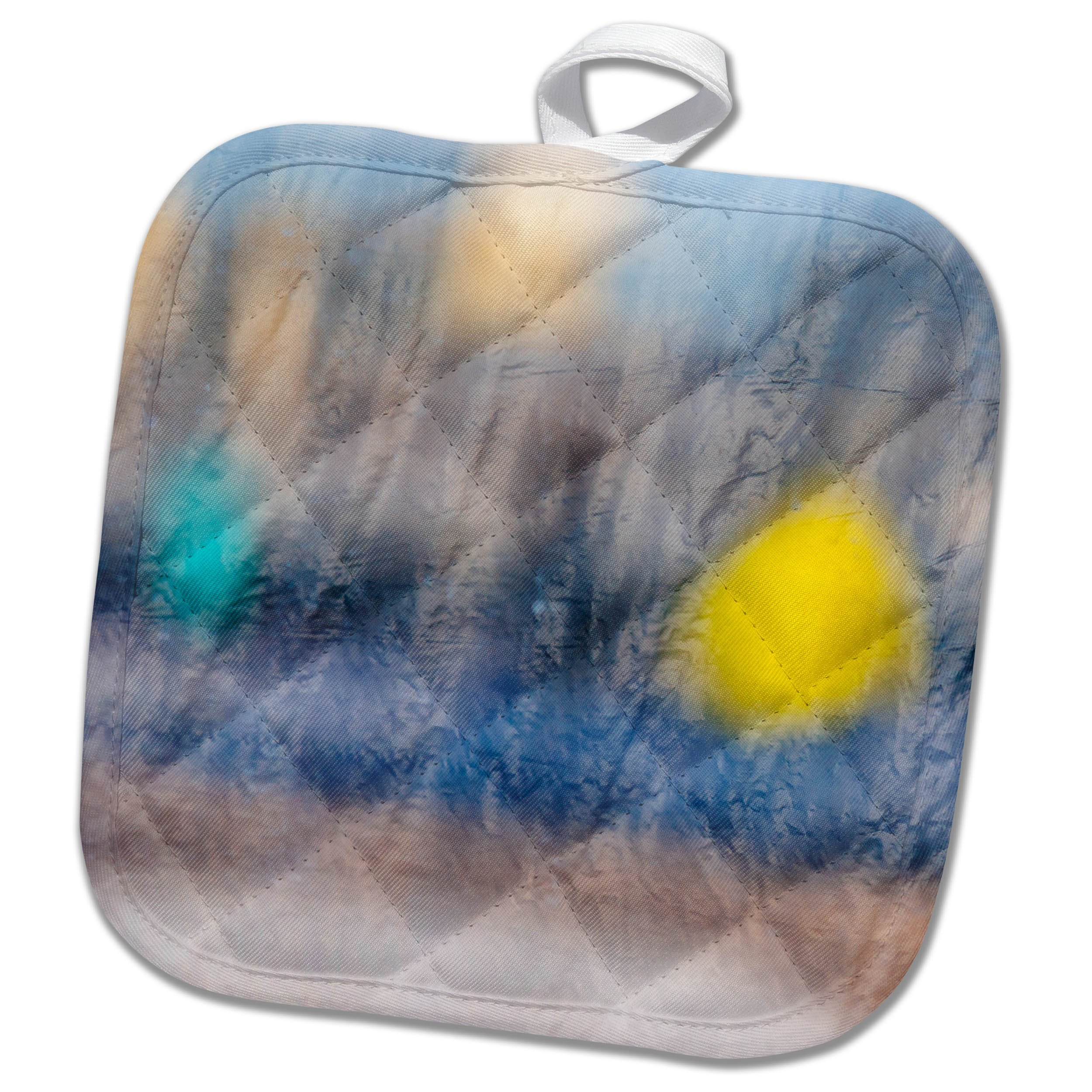 3dRose Alexis Photography - Abstracts - Image of soft blurry colorful reflections in a curtained glass window - 8x8 Potholder (phl_285871_1)