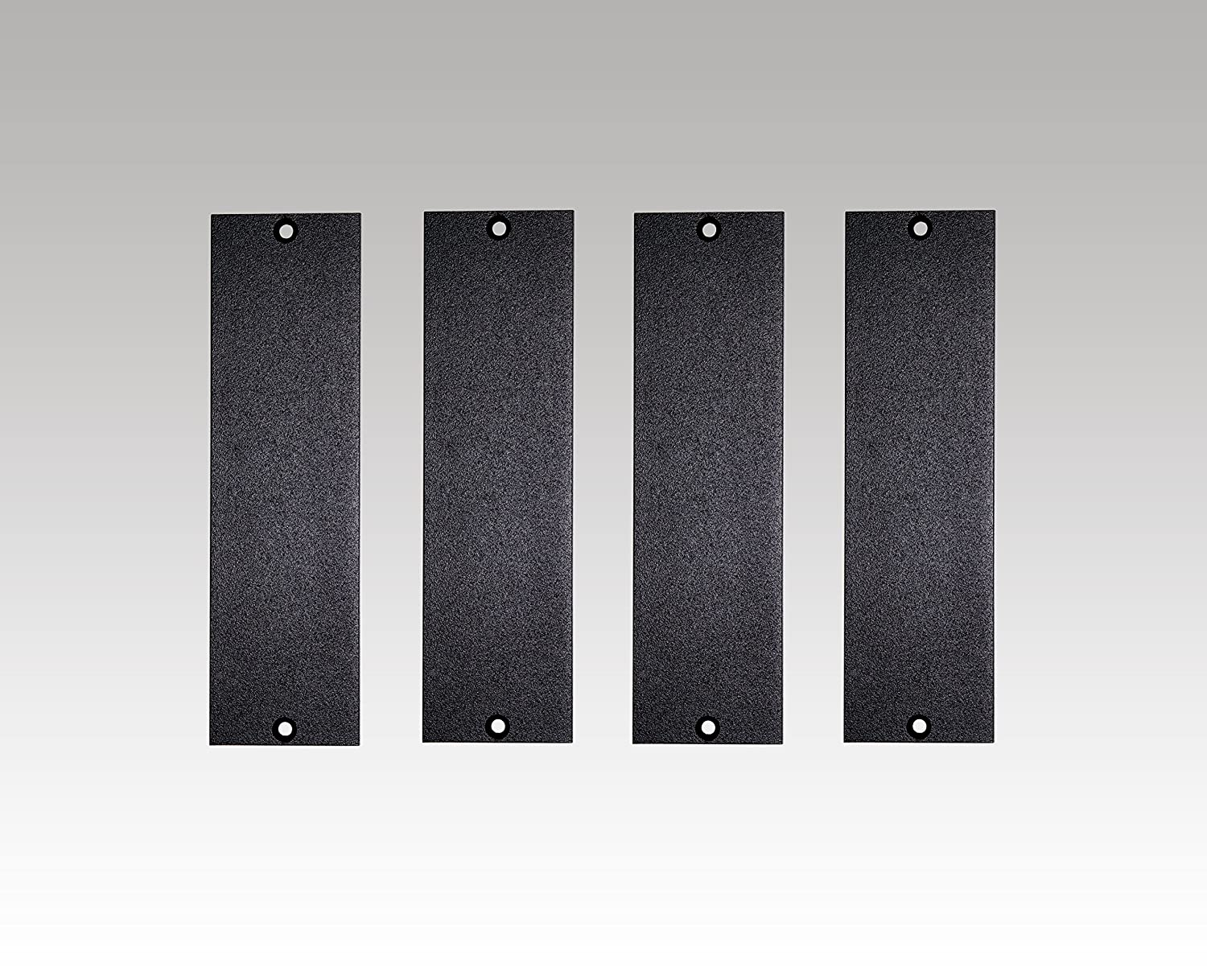 1U 500 Series Universal Blank Panel | Made in USA (4 Pack) Hudson Hi-Fi 4x500Series1UBlankPanel