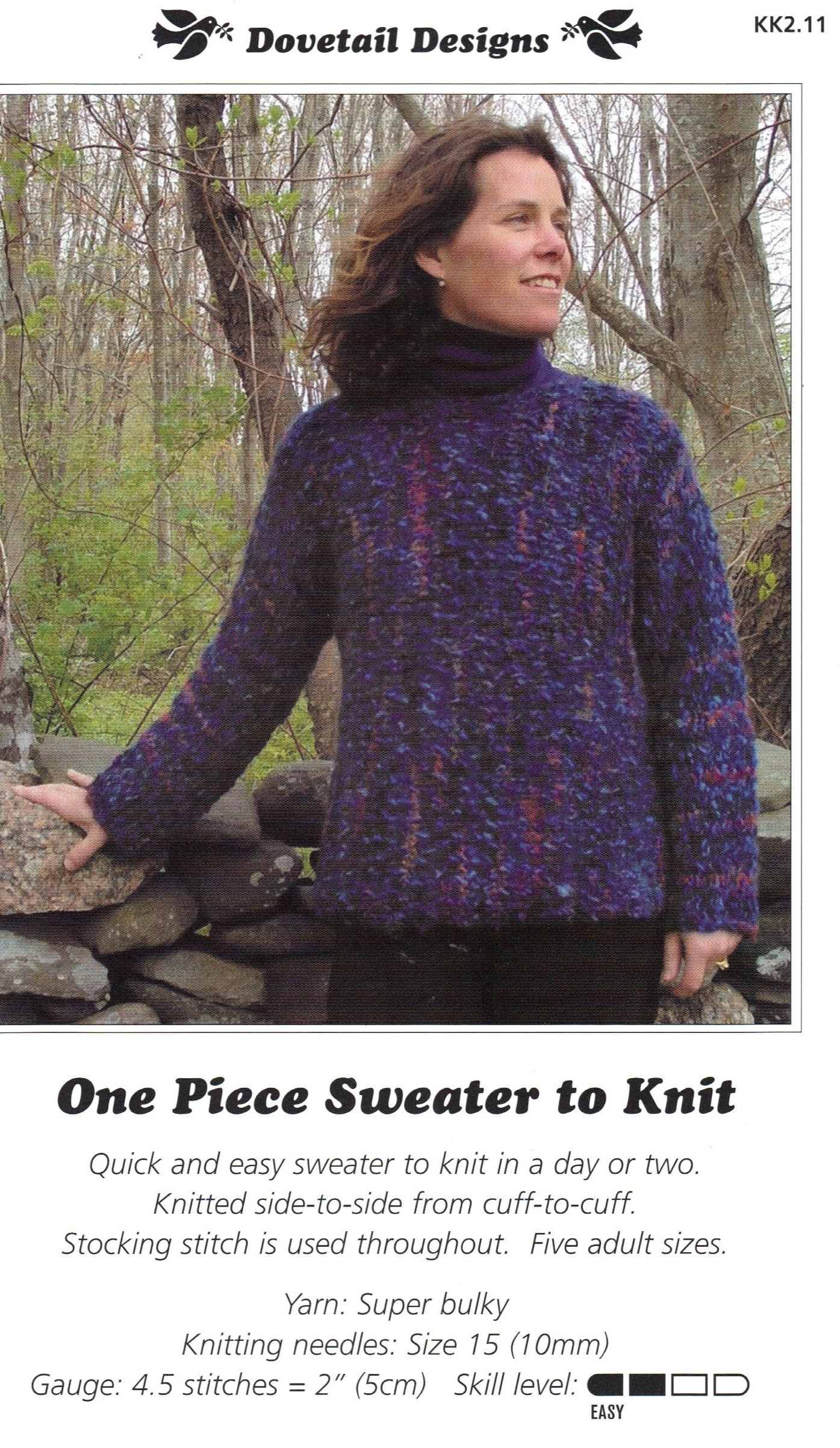 One Piece Sweater to Knit - One Knitting Pattern - Dovetail Designs ...