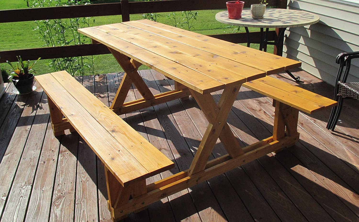 Amazon.com : Infinite Cedar EZ Access Cedar Picnic Table : Garden U0026 Outdoor