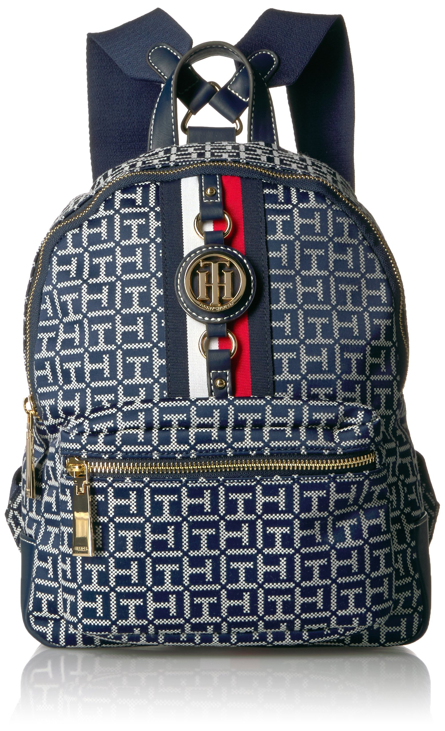 Tommy Hilfiger Women's Jaden Backpack, Navy/White