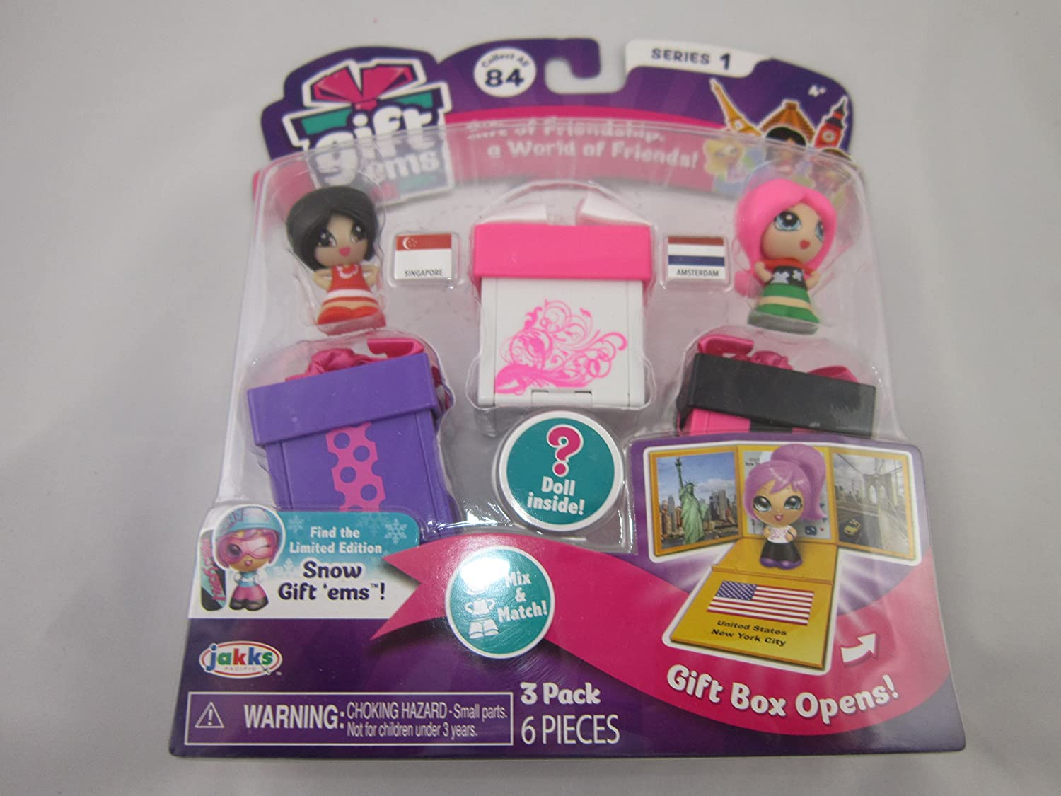Gift Ems Series 1 Singapore Amsterdam Mystery Doll 3 Figures