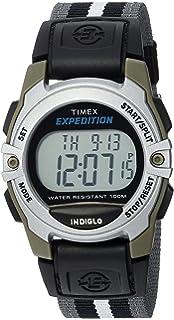 Timex Unisex TWH2Z8710 Expedition Mid-Size Digital CAT Gray/Black/White Stripe Nylon