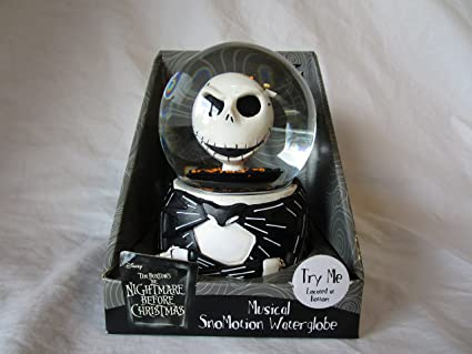 the nightmare before christmas jack skellington snowmotion musical water globe - Nightmare Before Christmas Snow Globes