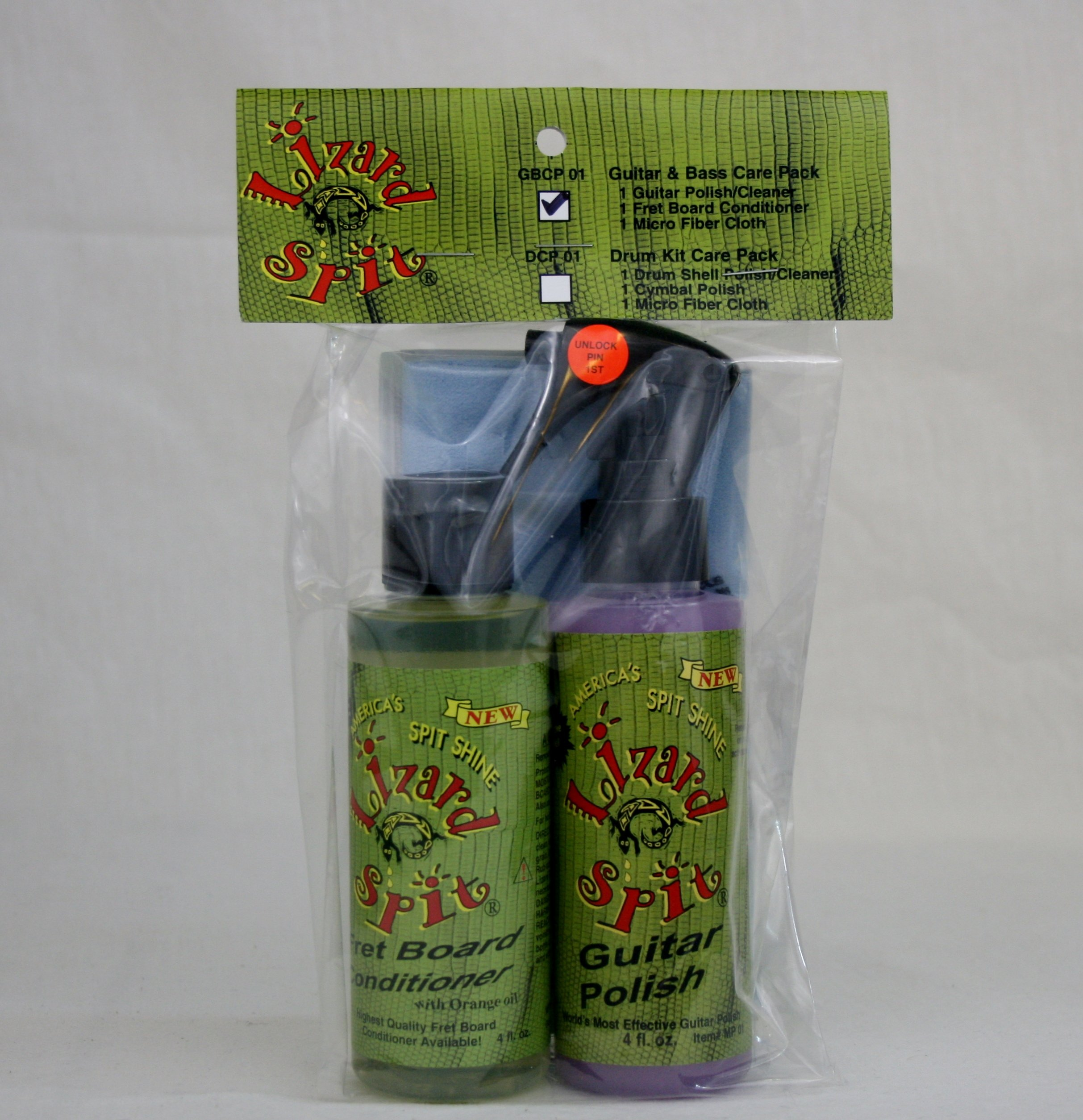 Lizard Spit Guitar/Bass Care Pack (Guitar Polish, Fretboard Conditioner, and Micro Fiber Cloth)