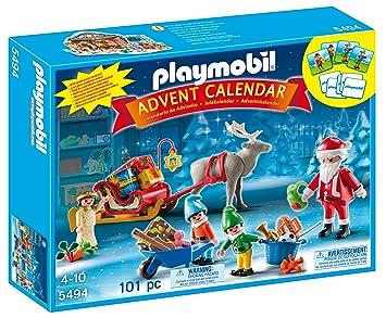 calendrier 2018 pere noel Playmobil   5494   Calendrier De L'Avent Exclusif  Atelier De  calendrier 2018 pere noel