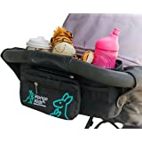 Ultimate Stroller Organizer Bag–Making Life Easier for Busy Mums on the Go. Universal Fit with Multi-Pockets, Insulated Deep Cup Holder and Storage for Phones & Accessories. BONUS baby changing mat.