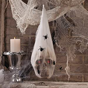 Fun Express - Led Skull In Cocoon for Halloween - Home Decor - Decorative Accessories - Home Accents - Halloween - 1 Piece