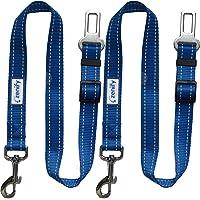 Zenify Dog Car Seat Belt Seatbelt Lead Puppy Harness - Heavy Duty Adjustable Carseat Clip Buckle Leash for Dogs Puppies…