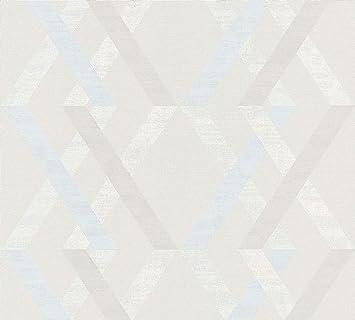 Tapete Linen Stripe Blau Grau Weiss Von Borastapeter