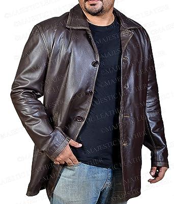 Supernatural Marrón envejecido chaqueta de piel - Dean ...