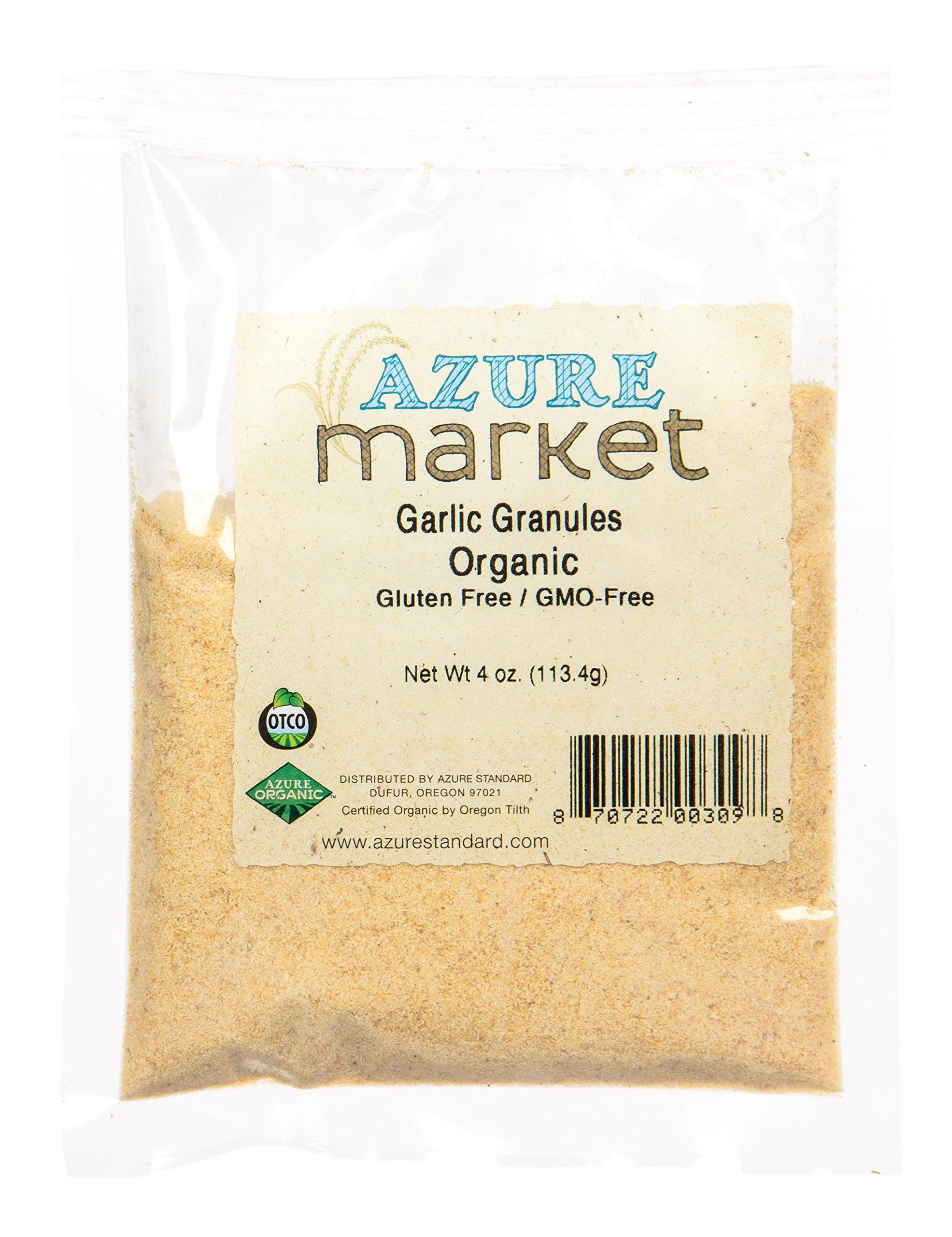 Azure Market Organics Garlic Granules, Organic - 4 oz
