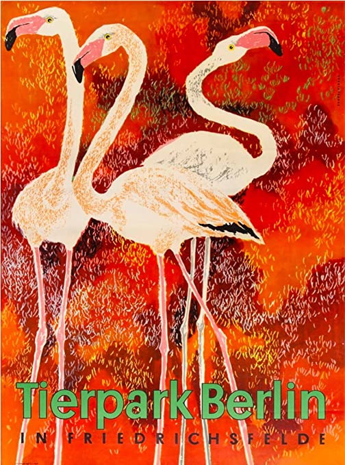 Vintage Berlin Zoo Tierpark Berlin Poster
