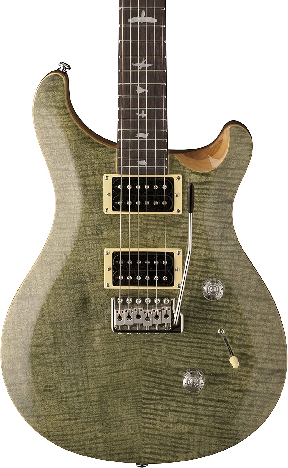 PRS Paul Reed Smith SE Custom 24 Electric Guitar with Gig Bag, Trampas Green