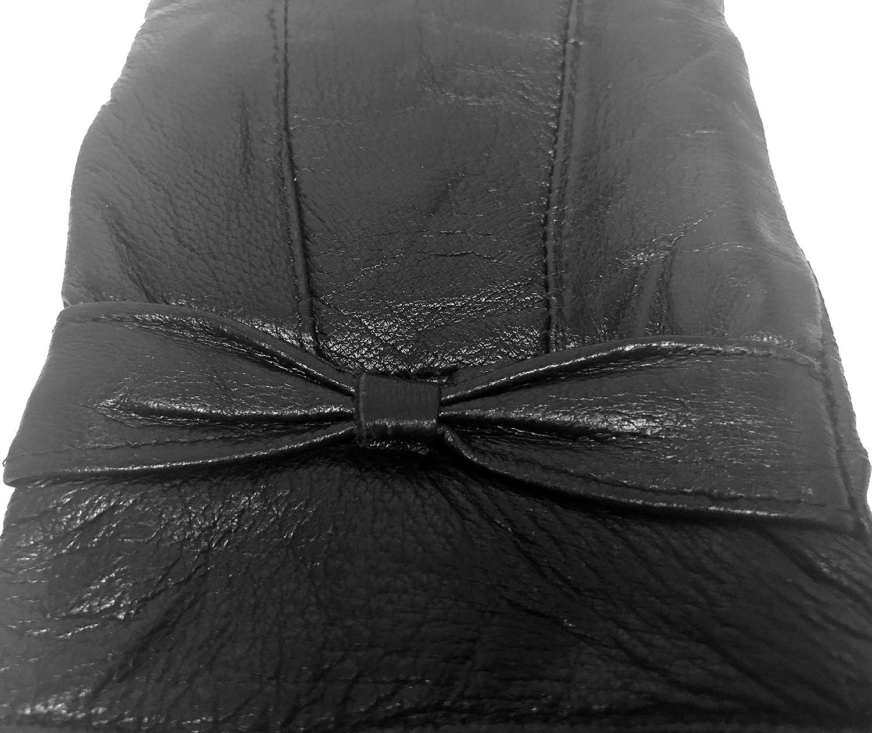 Sock Snob Donna caldi foderati outdoor termici invernali nero guanti pelle