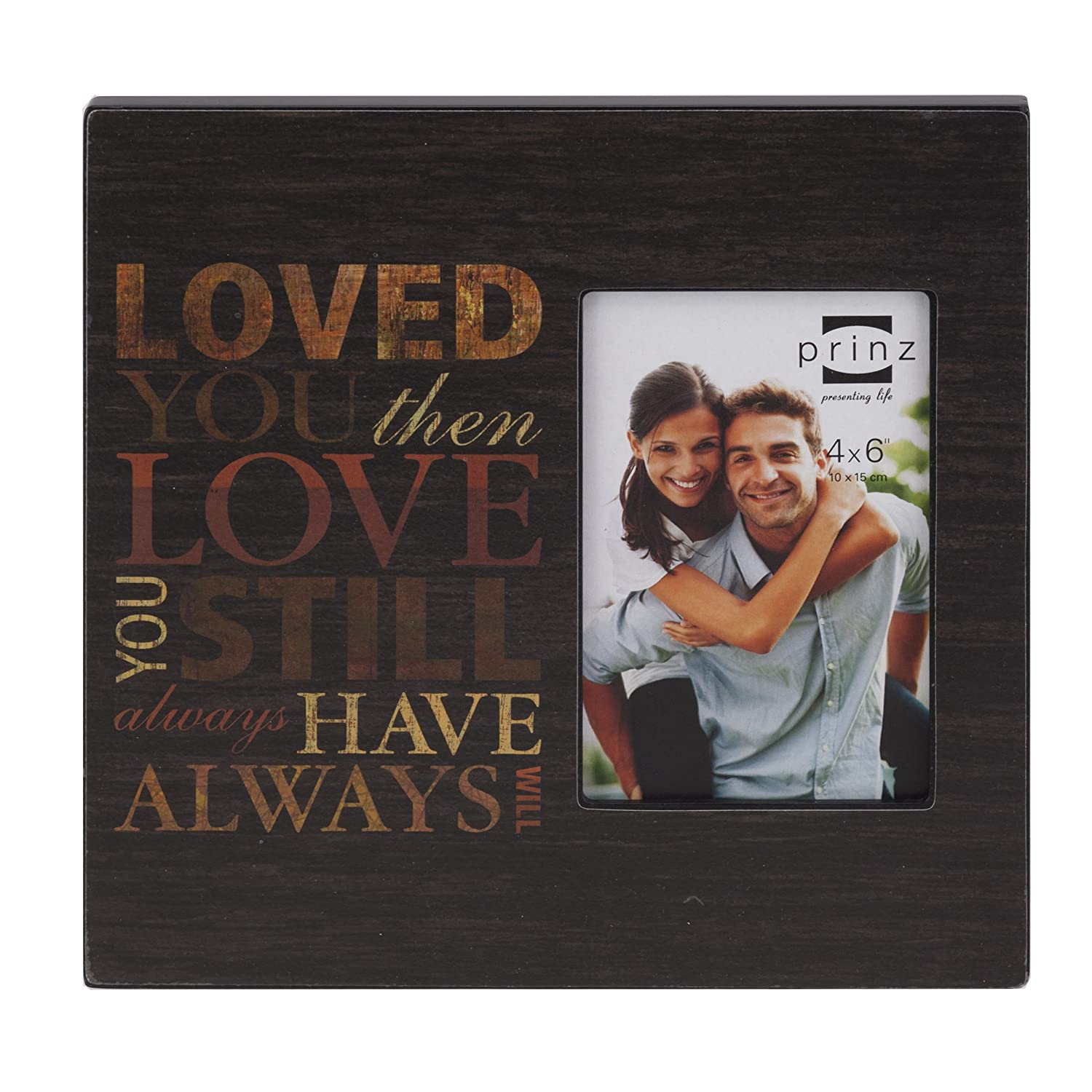 Prinz Love Wood Frame for 4 by 6-Inch Photo